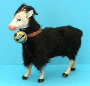 antique putz german sheep ram