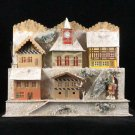Antique German Christmas Erzgebirge Mountainside Village for Illuminating Dresden Santa Nikolaus