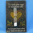 Vintage Pennsylvania Dutch Folk Art Egg and Telephone Timer Hand Painted Primitive