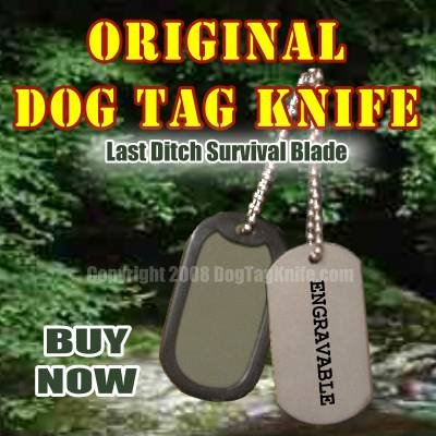 Original Dog Tag Knife by Alex Shunnarah