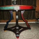Original Mexican bistro solid oak painting art dinning table california pick up only