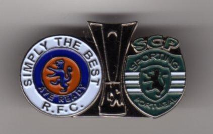 UEFA Cup Semi Final 2008 v Fiorentina Pin Badge