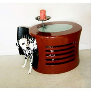 Elegant  Fiberglass Zen Haus Dog House End Table - Medium