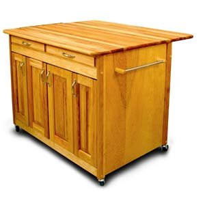 Giant Kitchen Island with Drop Leaf Dining