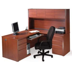 Cinnamon Office Suite w/ Hutch