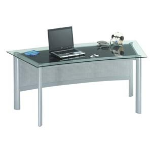 Wenge Glass & Aluminum Desk