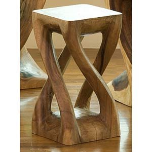 Double Twist Acacia Table
