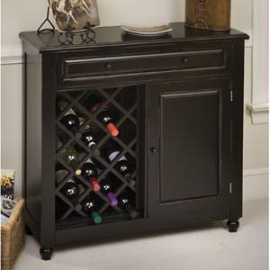 Raised Panel Wine Cabinet