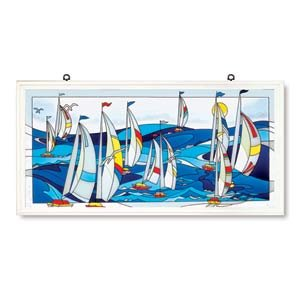 Sailboats Art Panel