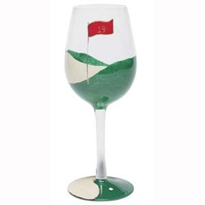 19th Hole Wine Glass - Set of Two