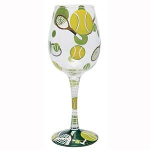 Tennis Wine Glasses - Set of Two