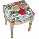 Dahlia Needlepoint Footstool