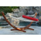 Deluxe Wood Arc Hammock With Sunbrella Bolster