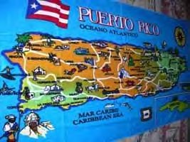 puerto rico map towel