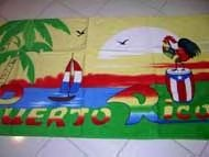 puerto rico rooster towel