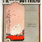 Me and the Boy Friend Vintage Sheet Music Operatic Edition 1924
