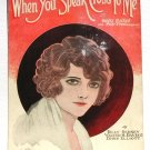When You Speak Cross To Me Vintage Sheet Music 1923