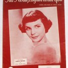 Till I Waltz Again With You Theresa Brewer Vintage Sheet Music 1952
