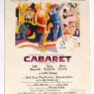 Cabaret Vintage Sheet Music 1966 John Kander Fred Ebb