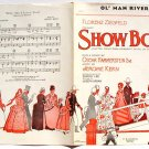 Ol' Man River Showboat Hammerstein Vintage Sheet Music 1927 Ziegfeld