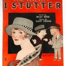 You Tell Her I Stutter Vintage Sheet Music 1922
