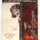 Have A Smile Vintage Sheet Music 1918 Corinne Griffith