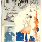 For My Sweetheart Vintage Sheet Music 1926 Charlie Melson