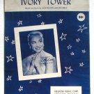 Ivory Tower Vintage Sheet Music 1956 Cathy Carr