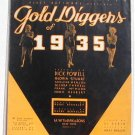 The Words Are In My Heart Gold Diggers of 1935 Vintage Sheet Music
