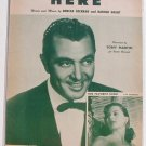 Here Vintage Sheet Music 1954 Tony Martin