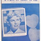 If I Give My Heart To you Vintage Sheet Music 1954 Tony Martin