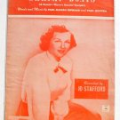 Shrimp Boats Vintage Sheet Music Jo Stafford 1951
