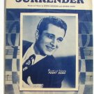 Surrender Perry Como Vintage Sheet Music 1946