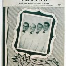 Trying Vintage Sheet Music The Hill Toppers 1952