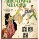 Broadway Melody Vintage Sheet Music 1929