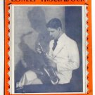 Lonely Troubadour Rudy Vallee Vintage Sheet Music 1929