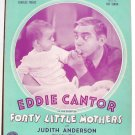 Little Curly Hair In A High Chair Vintage Sheet Music 1940 Eddie Cantor