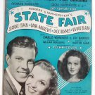 It's A Grand Night For Singing Vintage Sheet Music 1945 State Fair