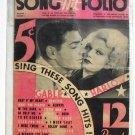 Song Hit Folio Lyrics Vol. 1 1934 Gable and Harlow