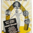 The More I See You 1945 Sheet Music Betty Grable