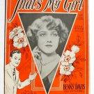 That's My Girl 1926 Sheet Music Leila Hyams