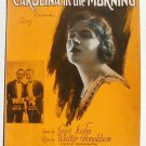 Carolina In The Morning Vintage Sheet Music 1922 White Beck