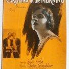 Carolina In The Morning Vintage Sheet Music 1922 White Beck