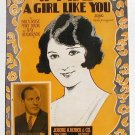 If I Had A Girl Like You Starmer Cover Vintage Sheet Music 1925