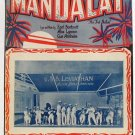 Mandalay Vintage Sheet Music 1924 USS Leviathan
