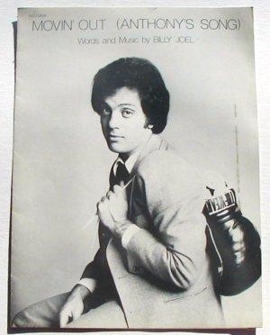 Movin' Out Vintage Sheet Music 1978 Billy Joel