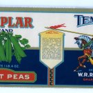 Templar Sweet Peas Gilded Vintage Vegetable Can Label Grand Rapids