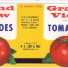 Grand View Tomatoes Can Label Warfordsburg PA