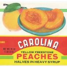 Carolina Freestone Peaches Can Label Gilbert SC