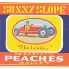 Sunny Slope Peaches Can Label Gaffney SC